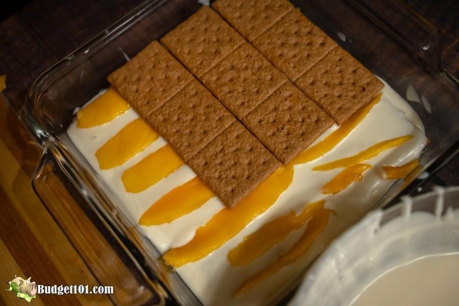 mango float cake layers