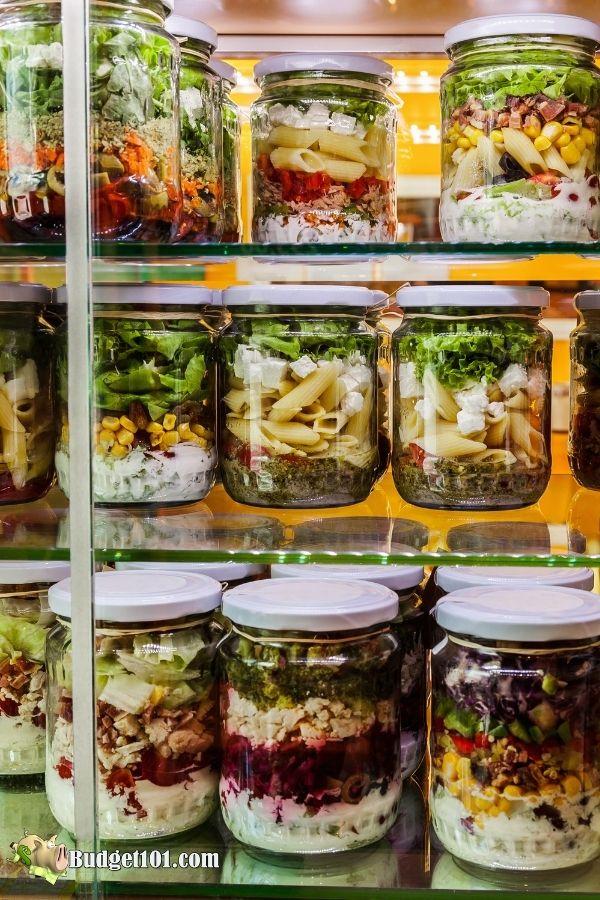 pasta jar salad