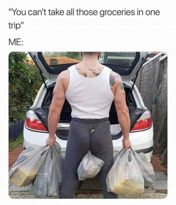 groceries one trip meme