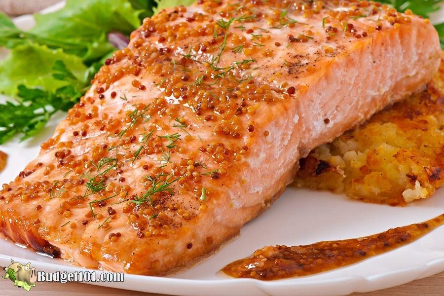 honey mustard herbed salmon budget101