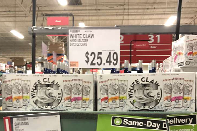 white claw price