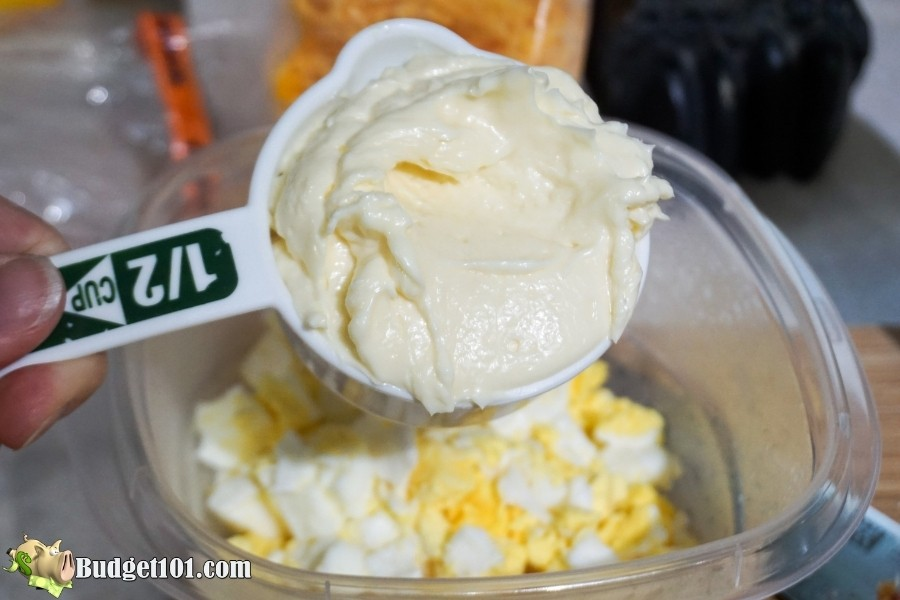 cheesy bacon egg breakfast add mayo
