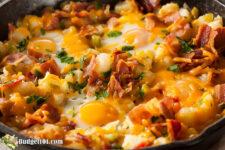 cheesy hash breakfast skillet budget101