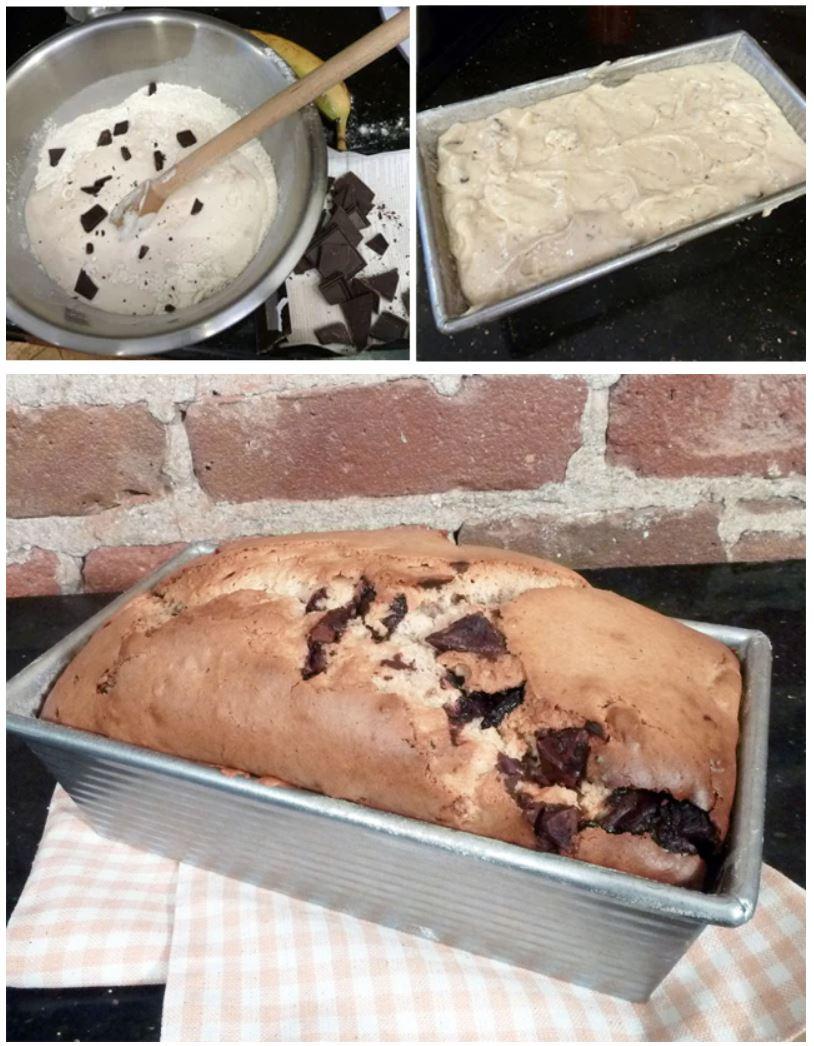 2-ingredient chunky monkey ice cream bread