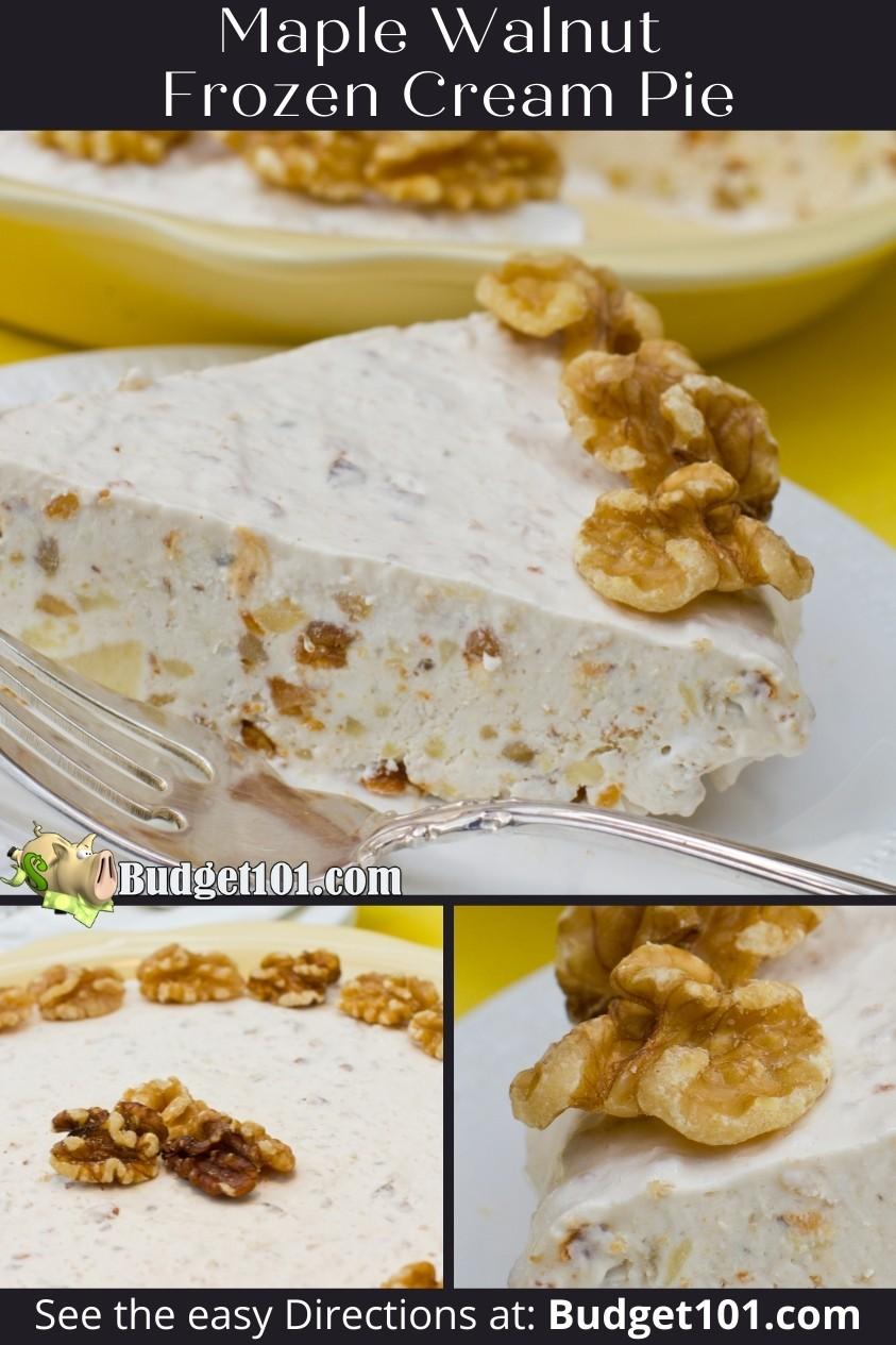 frozen maple walnut cream pie