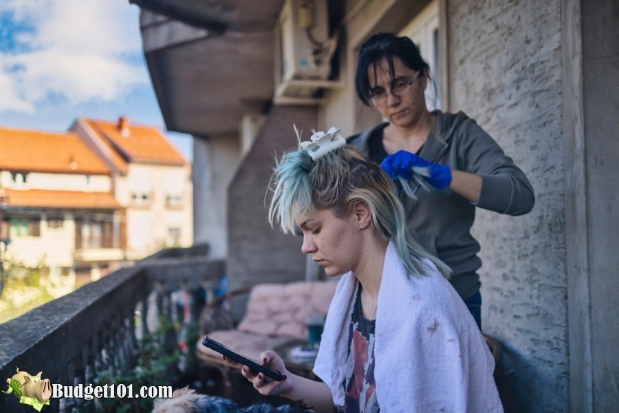 home hair coloring hacks sections