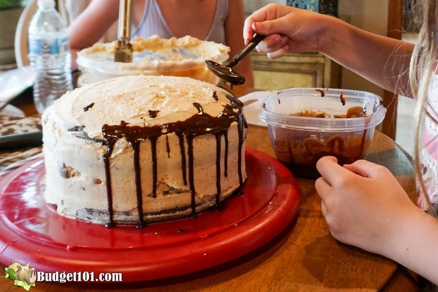 reeses peanut butter chocolate layer cake step 22