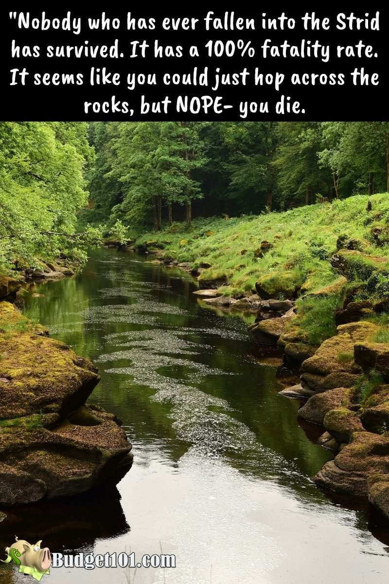 The Strid is one of the scariest places on earth. It has a 100% Fatality rate #Halloween #ScaryPlaces #BucketList #Wanderlustnotsatiated #Budget101