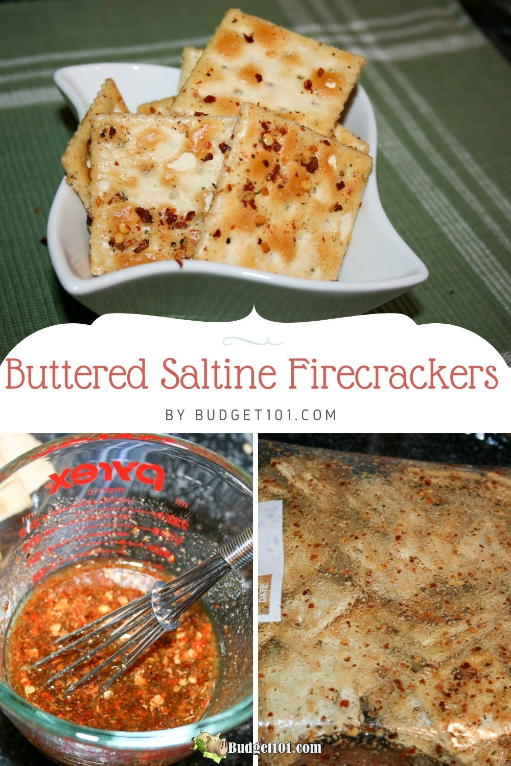 how to make easy buttered saltine firecrackers in 5 minutes flat #budget101 #butteredsaltines #Saltines #SaltineCrackers