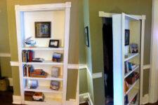 diy hidden door bookcase