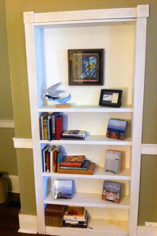 mysterious bookcase hidden door