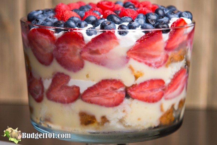 red white blue trifle