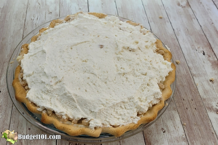 yoders peanut butter pie whipped cream