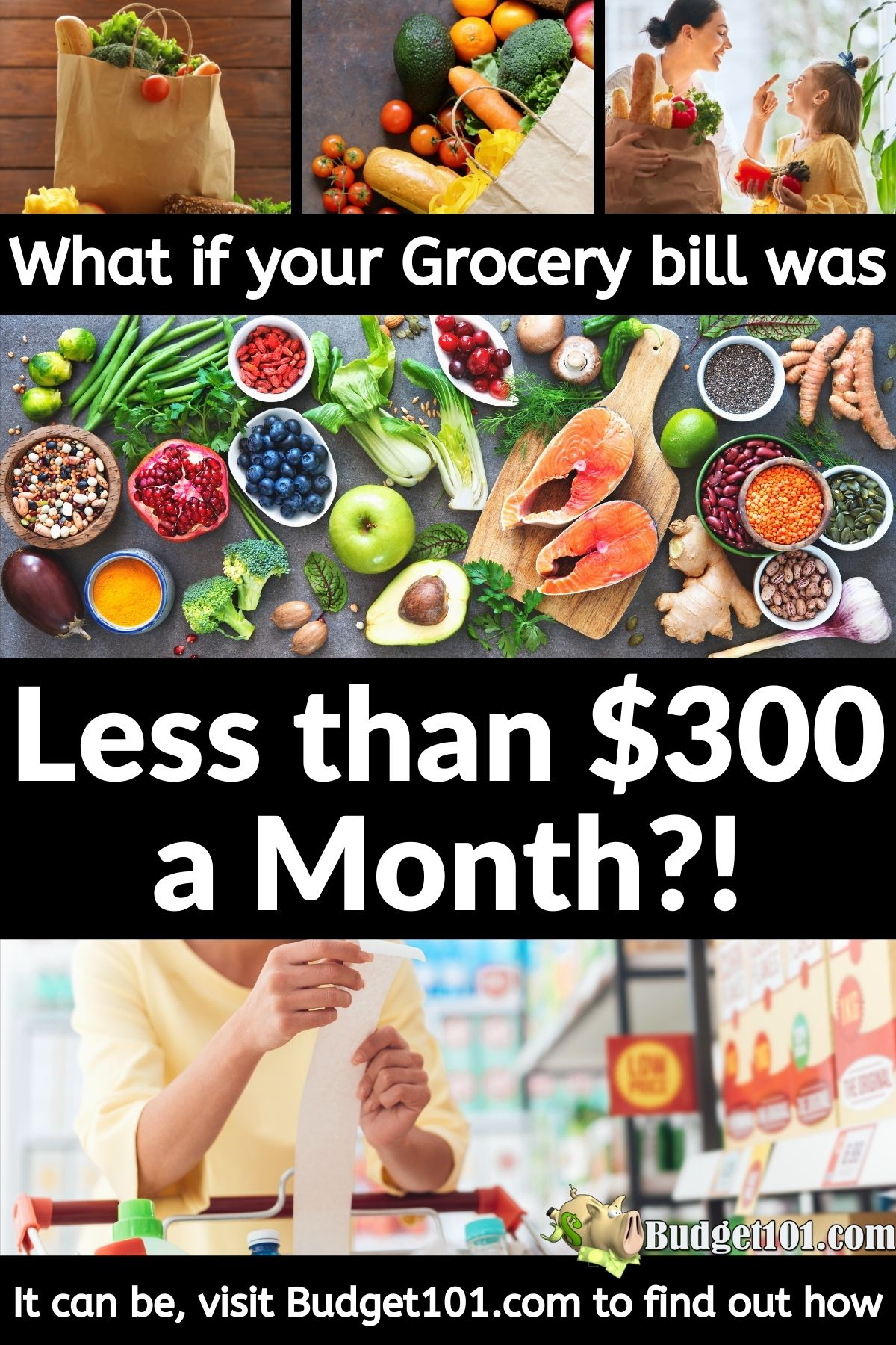 The Complete Budget101 Guide to Groceries under $300 a Month- Free #Budget101 #DirtCheap #GroceryGuide