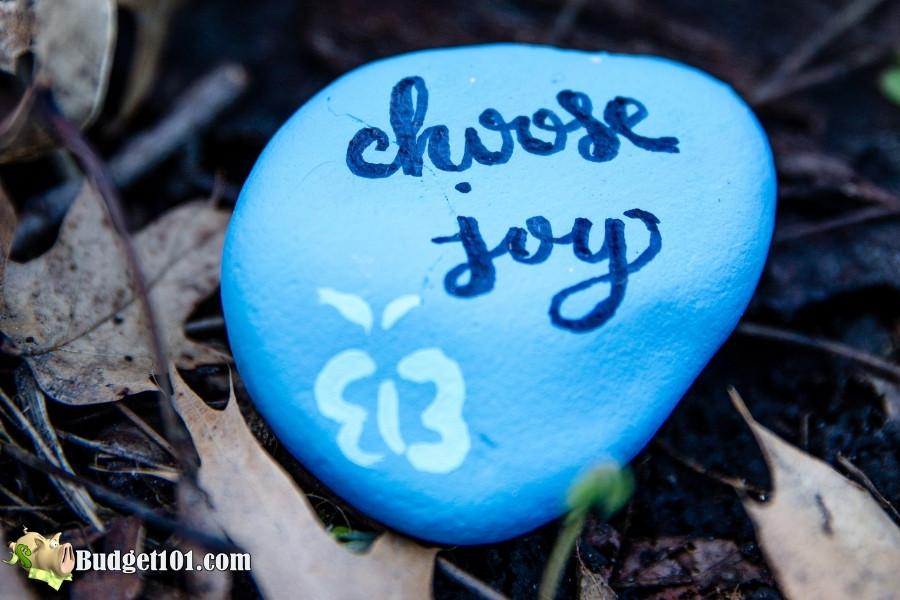 choose joy rock painting hobbies