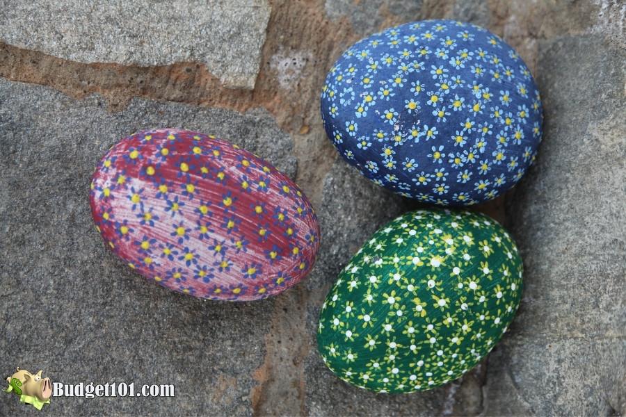 easy flower painted rocks