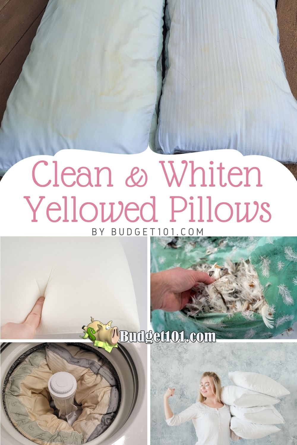 how to clean whiten yellowed pillows budget101