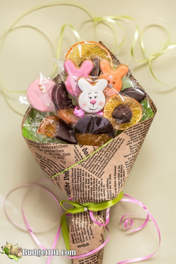 Bouquet style homemade chocolate wrapping