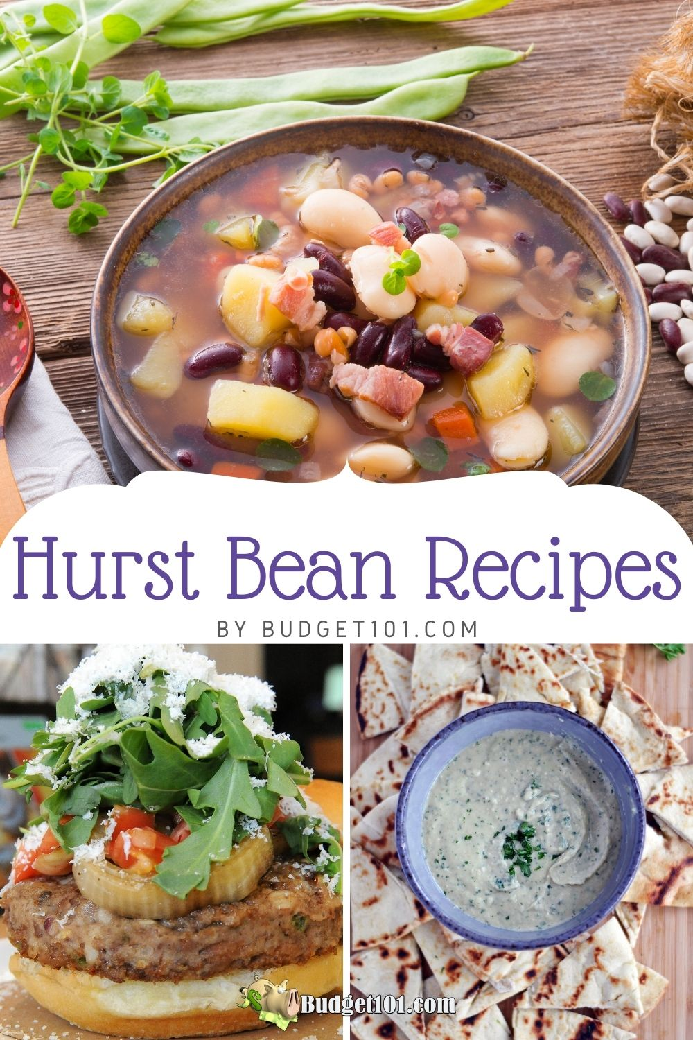 I love beans, but I get bored of the same old baked beans! These recipes are a great way to change up your menu planning while also including these healthy and economical staples. So try one out this week. You won't regret it! #hurstbeans #Beans #DirtCheap #Budget101