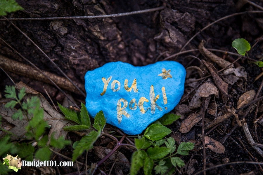 inspirational messages painted rocks