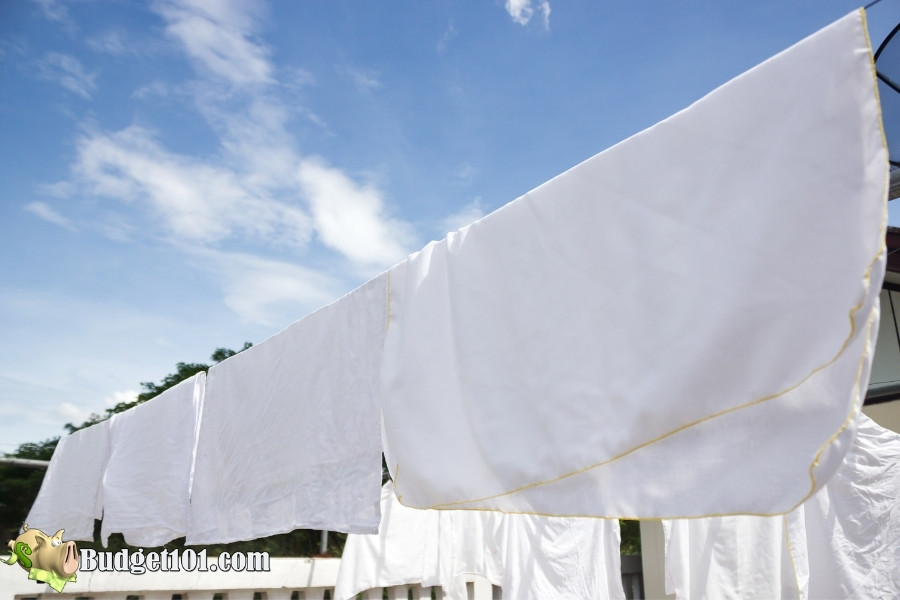 line dry clothing to remove smells
