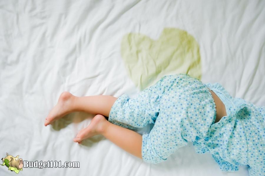 pee soaked sheets
