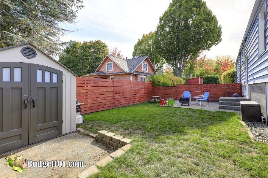 shady backyard